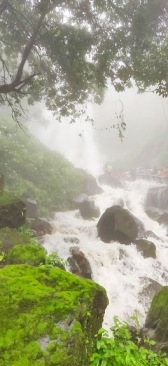 Amboli Steps covered in water